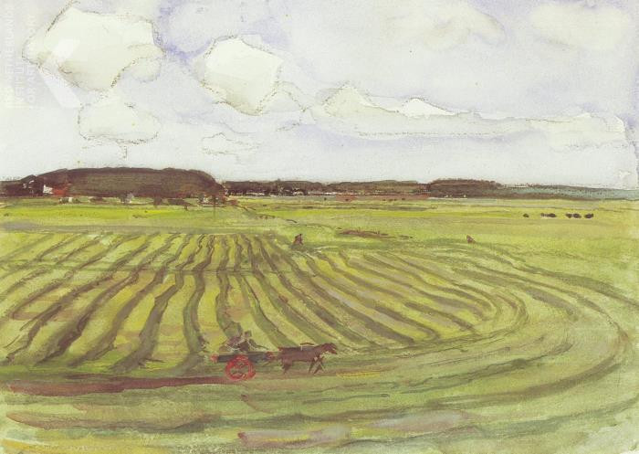 Piet Mondriaan - Landscape with mowed field