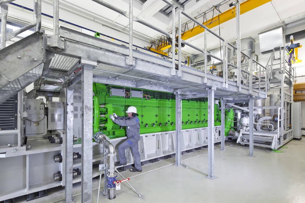 Jenbacher steel frame