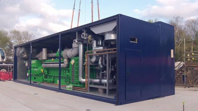 Engine generator set container