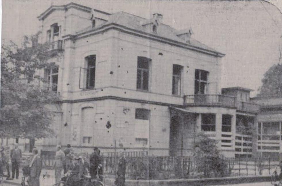 Beursstraat 2 Hengelo - WO2 Bombardement stad - wederopbouw_ Vierhout