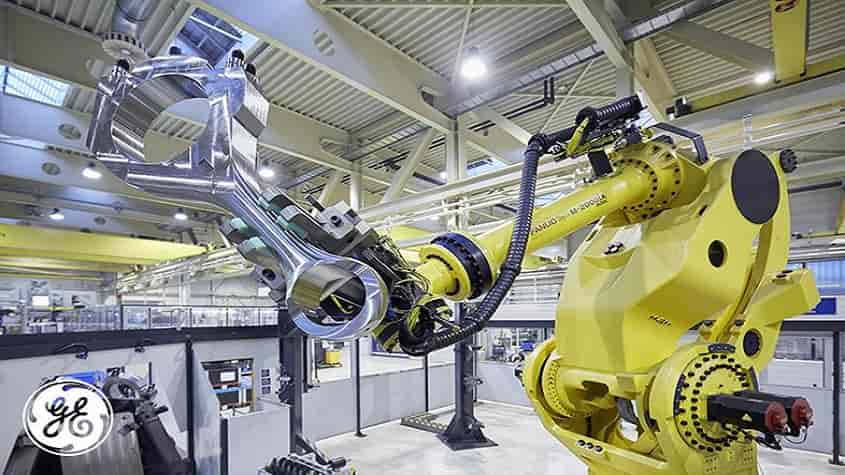Jenbacher production crank rod robot