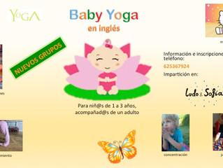 Nace un nuevo año con un nuevo grupo de yoga: ¡Baby Yoga!