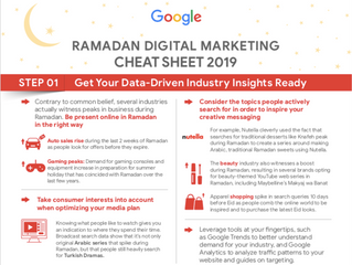 Ramadan Digital Advertising Cheat Sheet