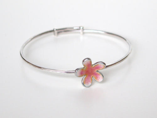 Pink Flower Bangle
