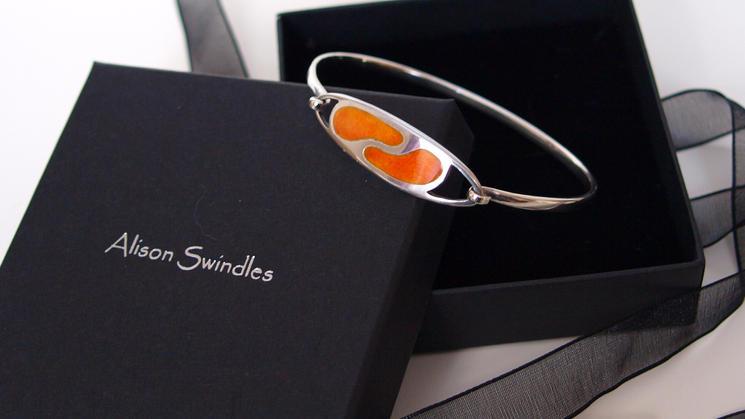 Orange Enammeld Bangle