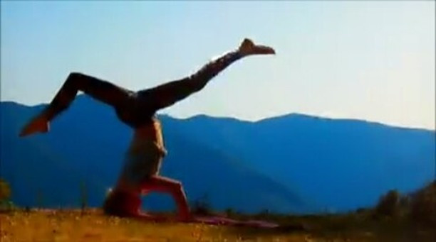 Sirsasana Headstand Variation Yoga