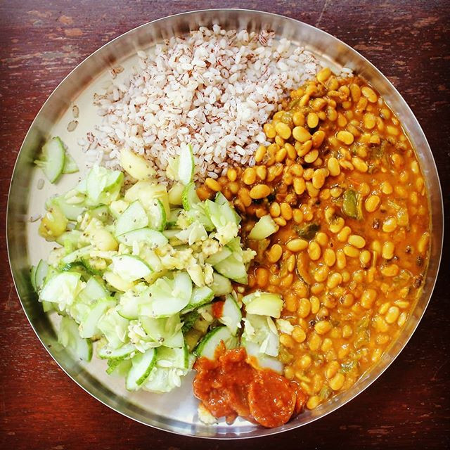 Vegan Indian Ashram Lunch