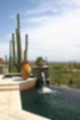 Inviting backyard hillside desert vista