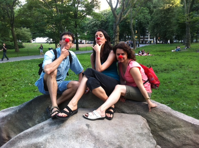 serious park clowns