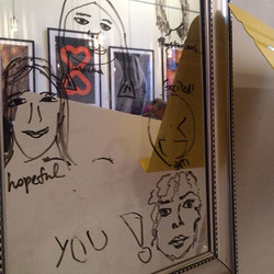 Love Letter Lounge - Valentine's Day 2016 - Draw and Name your Face - reflections of iconic photo mo