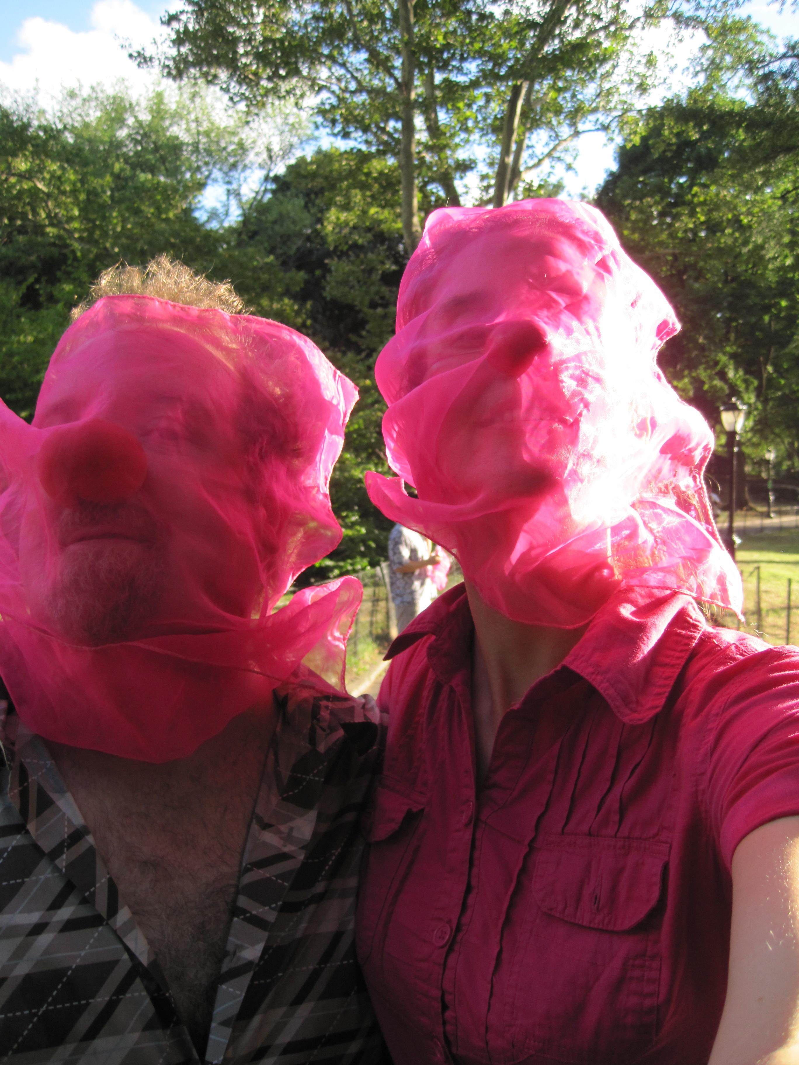clown curious pink faces