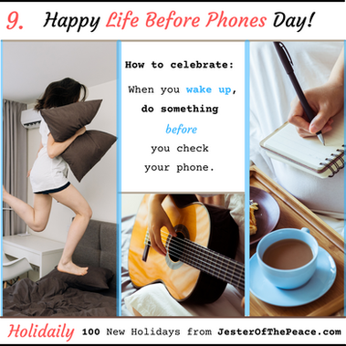 Life Before Phones Day