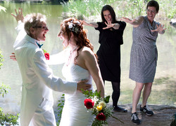 Deb and Stephanie Wedding Dance - Jester of the Peace - ZOOM