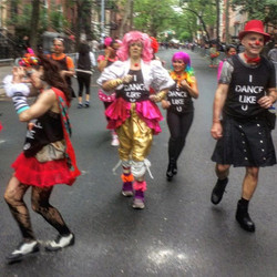 #IDanceLikeU in Dance Parade NYC - we mirror the moves of the audience - the people who thought they
