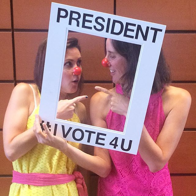 Frances and Dorothy are Presidents of Vivacious Voting