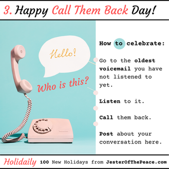 Call Them Back Day