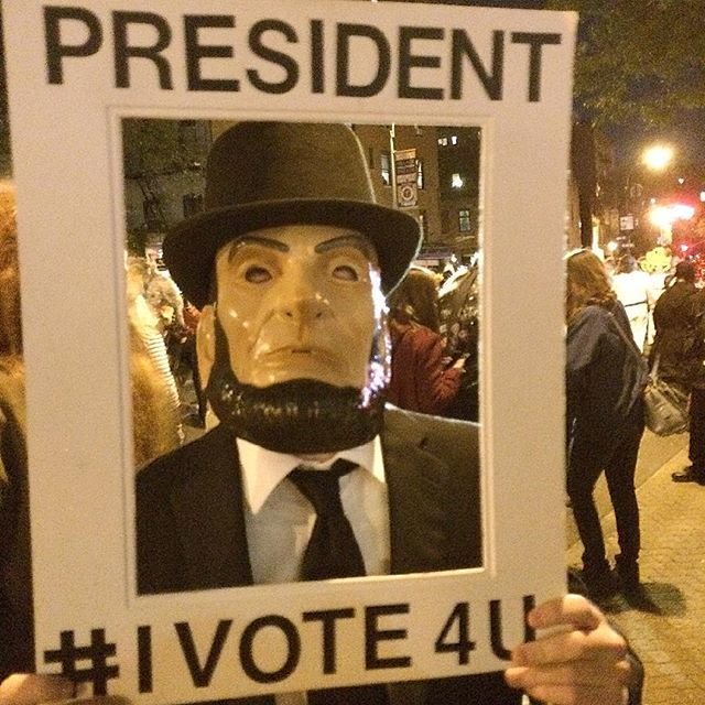 Abe Lincoln is still President