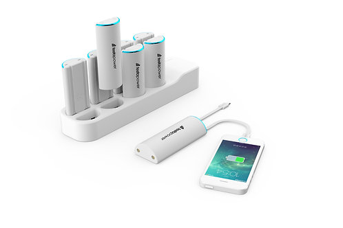 Charging dock including 8 powerbanks cables