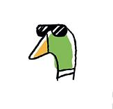 Logo Snoopduck, traiteur au pays basque (avec lunettes)