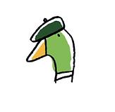 Logo Snoopduck, traiteur au pays basque (avec béret vert)