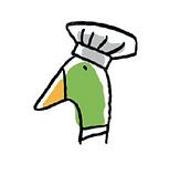 Logo Snoopduck, traiteur au pays basque (avec toque de chef)