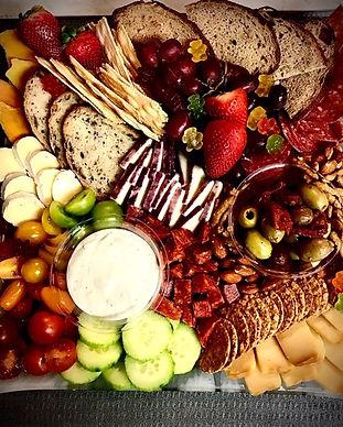 Tilted Platter Cheese & Charcuterie Platter