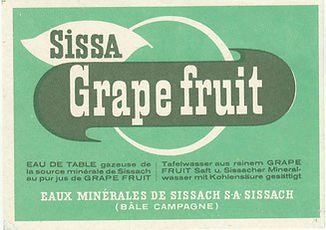 Sissa Grapefruit 1949 / Etikette