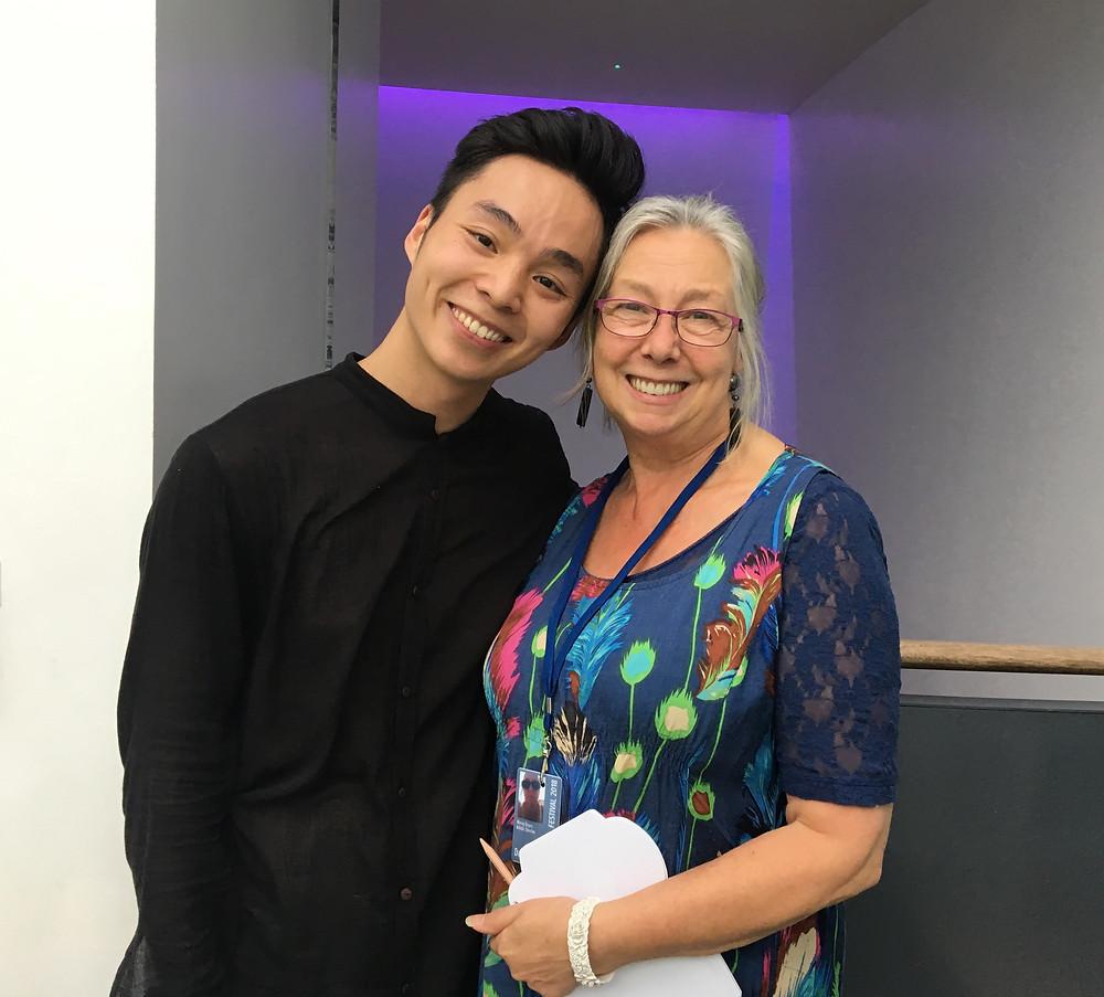 蘇格蘭國家舞蹈中心藝術總監Morag Deyes(右)相當欣賞李偉能及其作品。