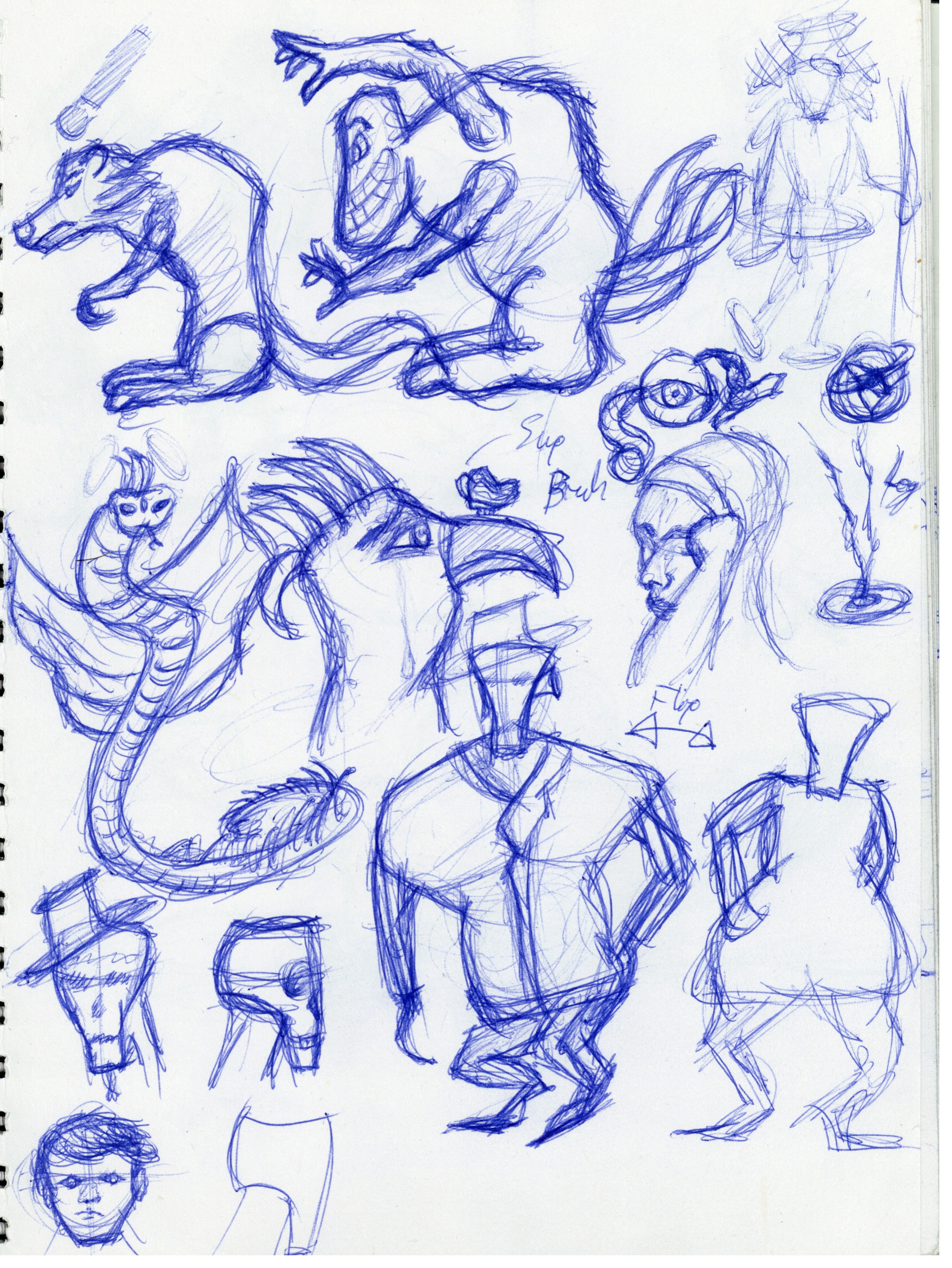 Character-Creature Doodles