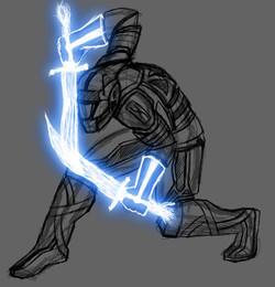 Futuristic Warrior Sketch