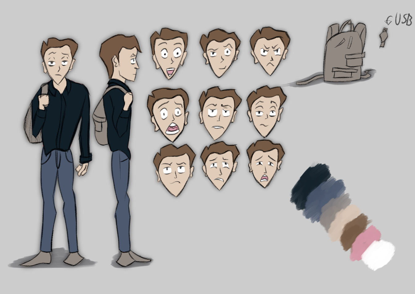 Derik Expression Sheet Turnaround