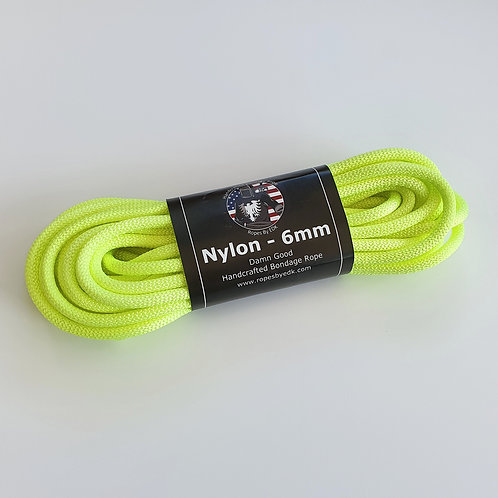 Neon Yellow Nylon Rope from 'RopesByEDK'