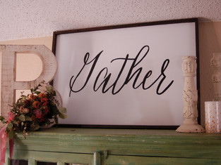 Diy Hand-Lettered Wood Sign