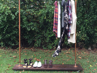 Rolling Copper Pipe Clothes Rack