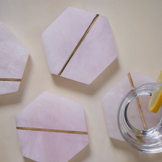 Decked Out Pink Stone Coasters (Set of 4)
