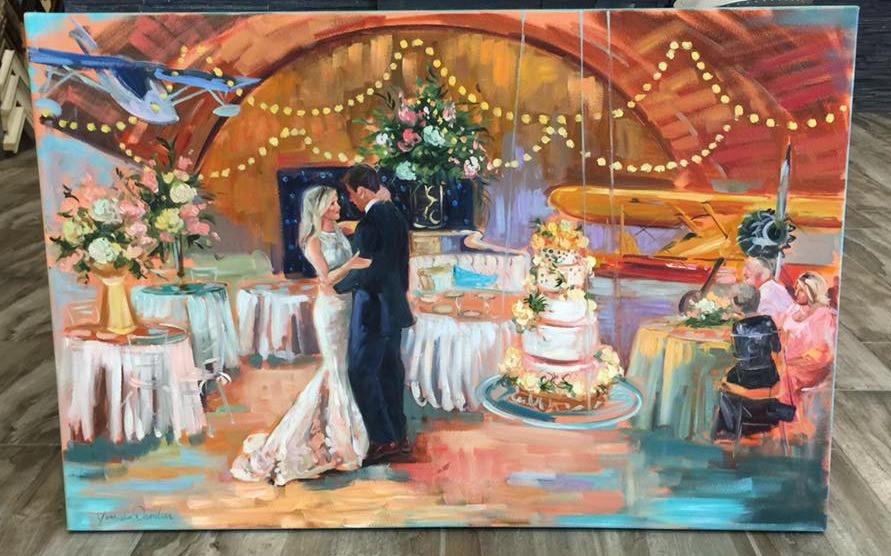 Live Wedding Painter - Jane Davidian