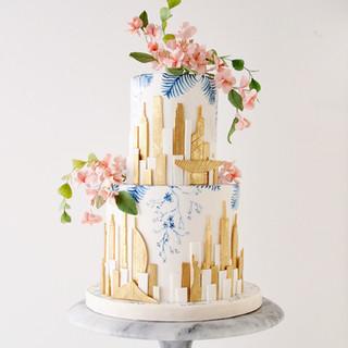 Skyline Birthday Cake