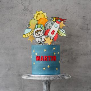 Space Explorer Birthday Cake