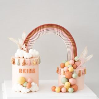 Rainbow Connection Birthday Cake