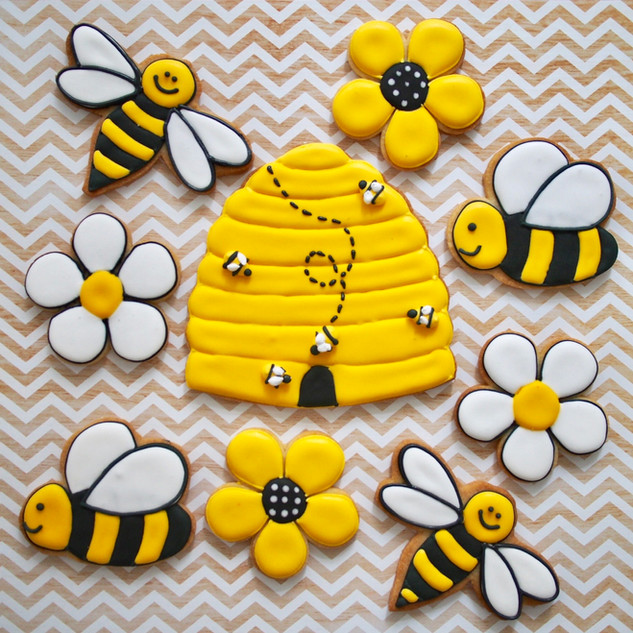 Honeybee Sugar Cookies
