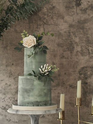 Rustic Buttercream Floral Wedding Cake Hong Kong