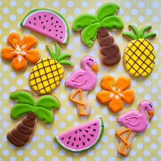 Summer Flamingo Sugar Cookies