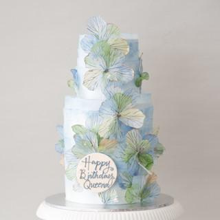 Cascading Petals Birthday Cake