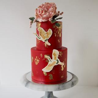 Chinese Crane Birthday Cake
