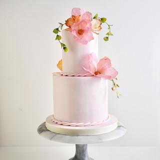 Pink Romance Birthday Cake