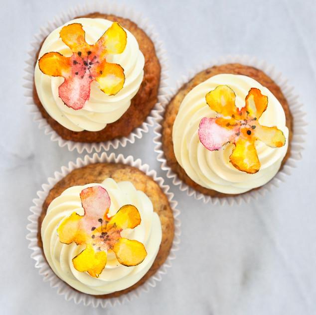 Floral Watercolour Cupcakes