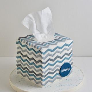 Tissue Box Birthday Cake