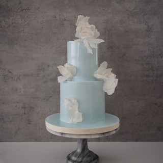 Ava (Blue) Wedding Cake