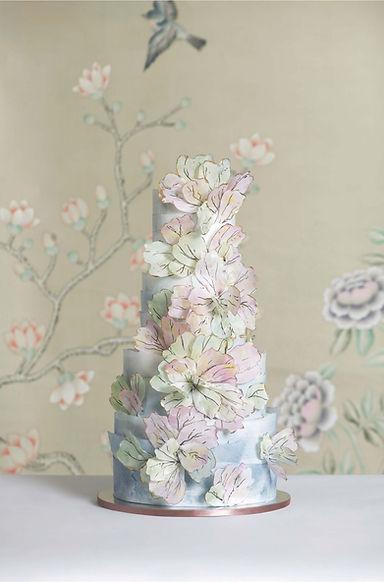 Beautiful Floral Wedding Cake Hong Kong