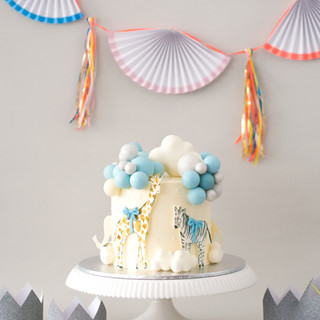 Baby Blue Balloon Cake